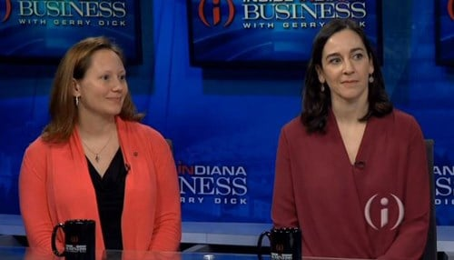 (Pictured left to right: IURTC's Jennifer Finefield and RHIT's Elizabeth Hagerman)