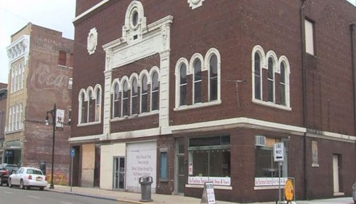 The grant will fund a new roof for the Pantheon Theatre. (photo courtesy of our partners at WTHI-TV)