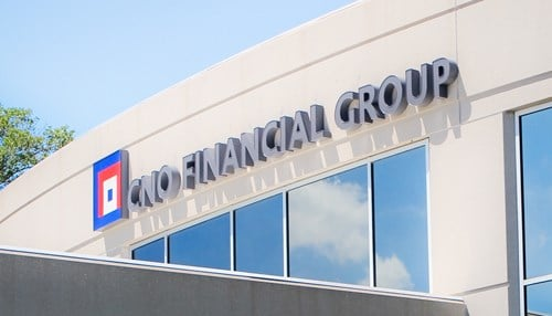 CNO Financial Group in Carmel is the highest-ranked Indiana company on the list.