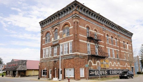 The Glove Corp. building was constructed in 1922. (photo courtesy Don Knight/The Herald Bulletin)
