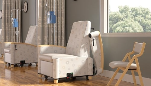 The company manufactures built-to-order seating products for the health care market, among others.