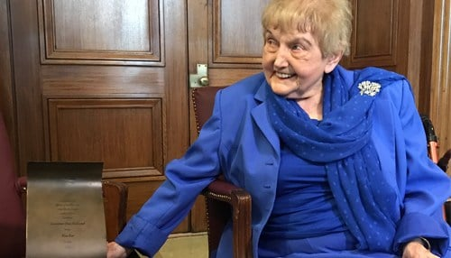 Eva Mozes Kor and her sister were prisoners who survived the NAZI concentration camp in Auschwitz. The rest of their family did not.