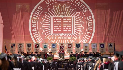 IU's first commencement ceremony will take place May 5. (photo courtesy Indiana University)