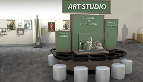 The NAMOS collection will be featured in the Efroymson Pavilion in the Sports Legends Experience.