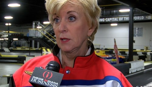 McMahon's tour included a visit to the Dallara Factory in Speedway.
