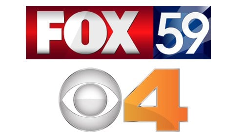 Tribune owns Fox 59 and CBS 4 in Indianapolis.