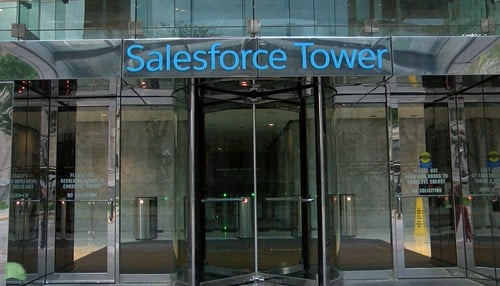 The announcement will take place at Salesforce Tower.
