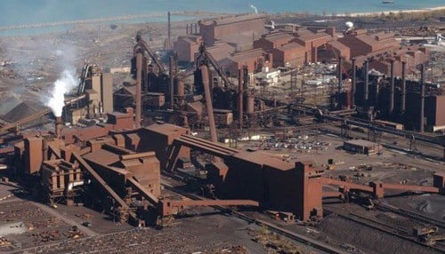 ArcelorMittal's facility in Burns Harbor is the newest integrated steel mill in the U.S. (photo courtesy The Times of Northwest Indiana)