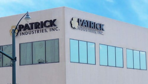 Patrick Industries is the highest-ranked Indiana company on the list.