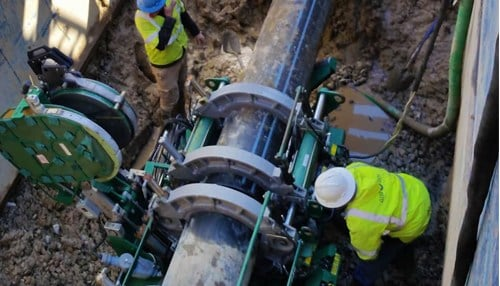 TSW replaces underground water mains at municipal and commercial locations. (photo courtesy TSW Utility Solutions)