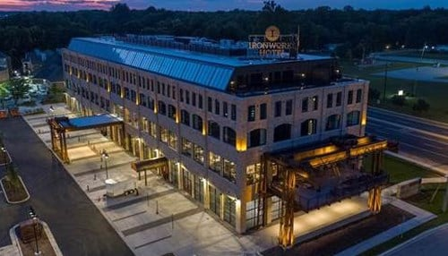 The 100,000-square-foot Ironworks Hotel Indy opened last year.