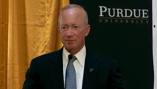 Purdue President Mitch Daniels (file photo)