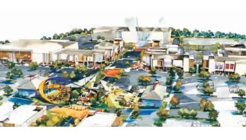 (Rendering of The Yard concept provided by the city of Fishers.)