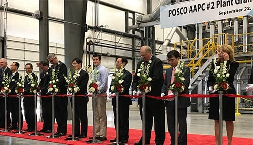 POSCO ribbon cutting ceremony at Port of Indiana-Jeffersonville.