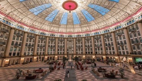 A launch event will take place in the West Baden Springs Hotel Atrium.