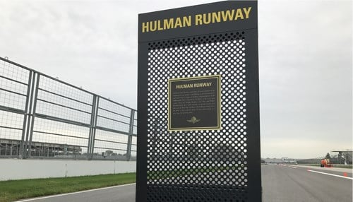 Hulman Boulevard has been transformed into Hulman Runway for the second annual race.