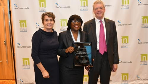 BioCrossroads says Caine helped reduce black infant mortality rate to its lowest level in the city's history.