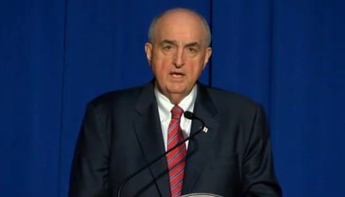 IU President Michael McRobbie detailed the initiative Tuesday at the Statehouse.