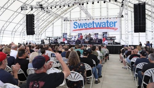 The company says events at the Sweetwater Performance Pavilion has caused traffic delays in the past. (photo courtesy Sweetwater Sound)