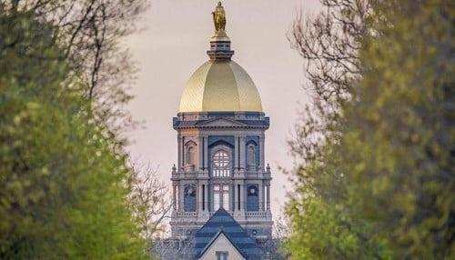 The University of Notre Dame is one of the Indiana representatives on the list. (photo courtesy University of Notre Dame)