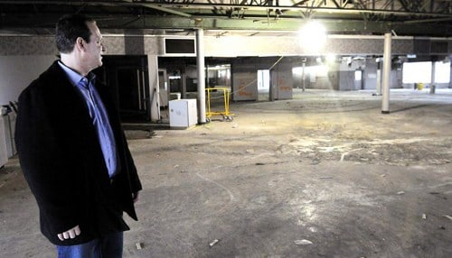 Kleenco President Noah Rosen at the site of its new Anderson location. (photo courtesy Don Knight/The Herald Bulletin)