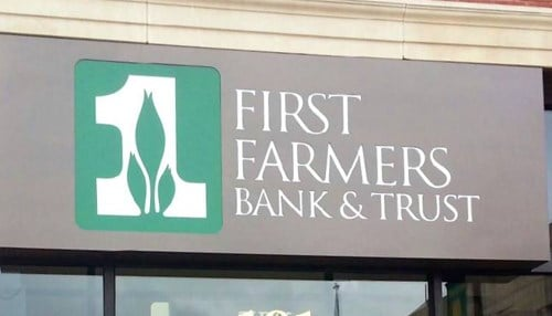 The company is the parent of First Farmers Bank & Trust.