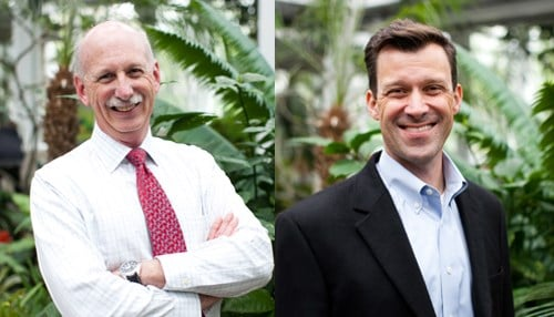 Mike Crowther (left) and Rob Shumaker (photos courtesy Indianapolis Zoo)