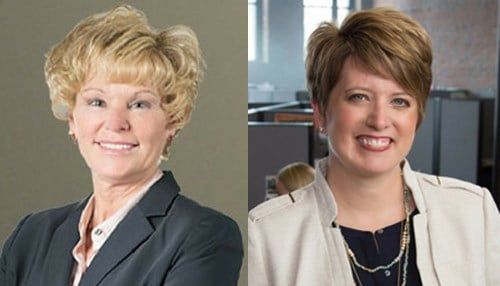 Sherry Aaholm (left) and Angie Hicks are two of the new board members. (photos courtesy TechPoint)