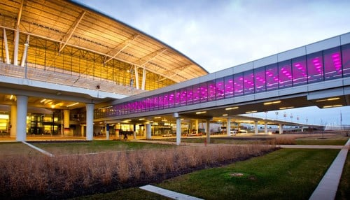 The airport is reporting records for all third-quarter months. (Image courtesy: Indianapolis Airport Authority.)