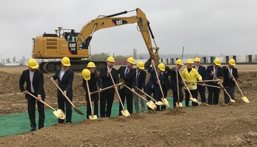 Officials broke ground on the expansion Tuesday. (photo courtesy Evansville Mayor Lloyd Winnecke)