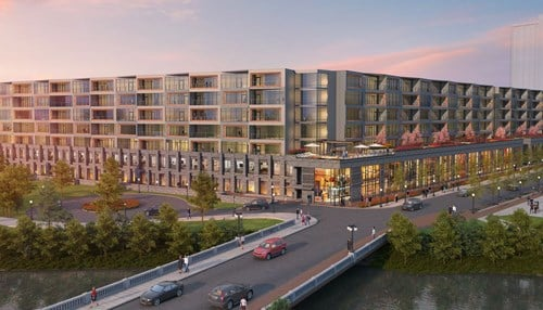 The original project was first announced in 2017. (Rendering provided by the city of Fort Wayne.)