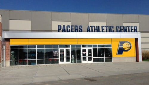 The Pacers branding and signage at the facility is expected to be complete in early 2018. (rendering courtesy Pacers Sports & Entertainment)