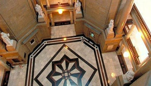 (Image courtesy of the state of Indiana.) The news conference will be held in the Rotunda of the Indiana Statehouse.