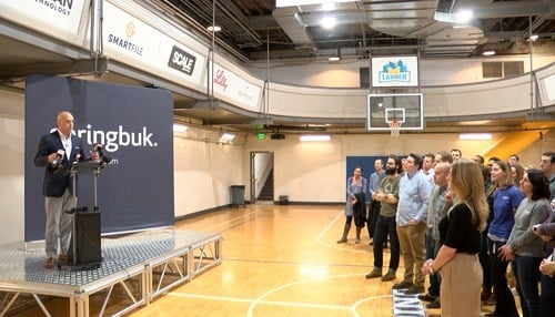 SpringBuk's expansion plans were detailed at its home at The Union 525 in downtown Indianapolis.