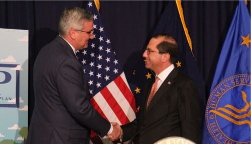 Holcomb and Azar announced the approval Friday in Indianapolis.