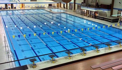 (Image of the Crawfordsville Aquatics Center courtesy of Crawfordsville High School.)