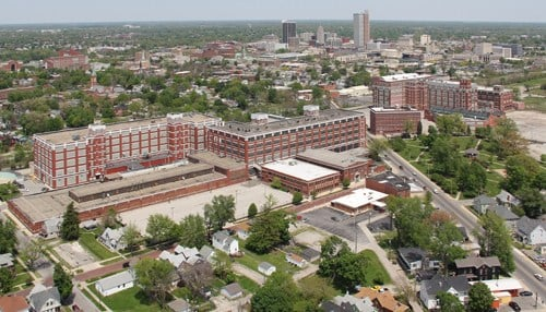 Electric Works will be built on the site of the former GE campus in Fort Wayne. (photo courtesy Electric Works)