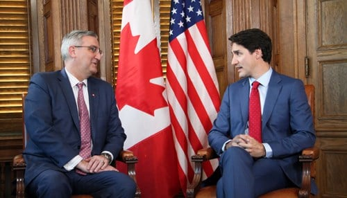 Holcomb recently wrapped up a trade mission to Canada. (Image courtesy of the state of Indiana.)
