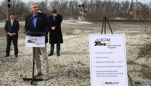Governor Eric Holcomb announced the project Monday in Chesterton. (photo courtesy Governor Holcomb's office)