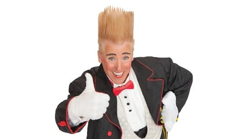 """Bello Nock, dubbed the """"World's Greatest Comic Daredevil,"""" will be one of the featured performers at the circus."""
