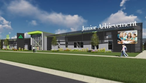 (rendering courtesy Junior Achievement of Northern Indiana)