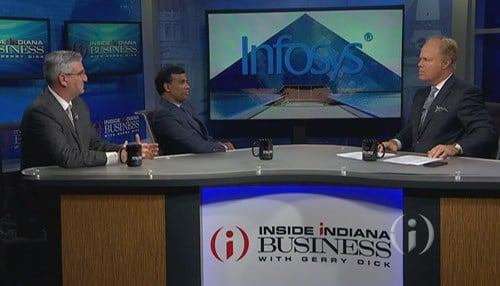 Holcomb was joined on the show by Infosys President Ravi Kumar.