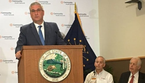 Governor Holcomb announced the program Monday at Community Hospital East.