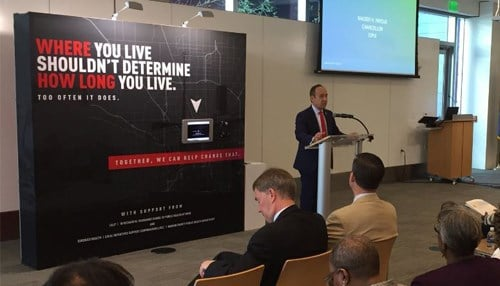 IUPUI Chancellor Nasser Paydar announced the launch of the program.