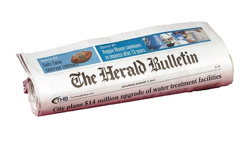 Our partners at The Herald Bulletin are among CNHI's Indiana newspapers.