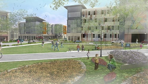 The Mill is part of the city's Trades District. (rendering courtesy Dimension Mill Inc.)