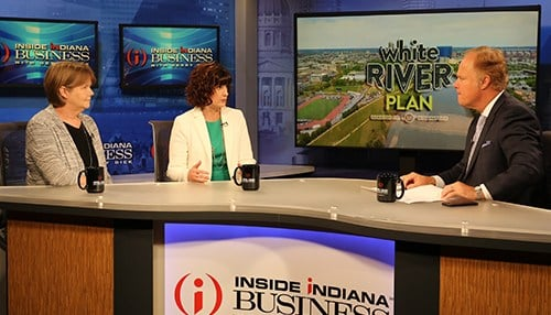 Brenda Myers (left) and Emily Mack talked about the plan on Inside INdiana Business with Gerry Dick.