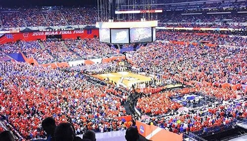 Indy last hosted the Men's Final Four in 2015. (photo courtesy Lucas Oil Stadium)