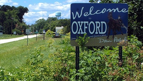 Oxford, Indiana is one of the recipients.