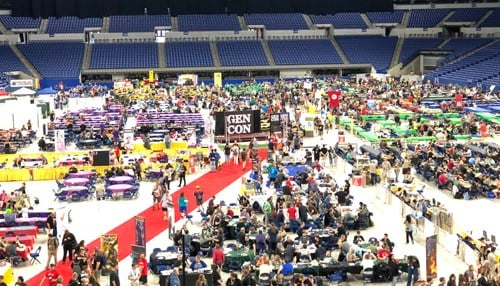 Gen Con takes place at the Indiana Convention Center and Lucas Oil Stadium.